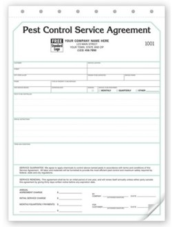 129 Pest Control Service Agreement form personalized with your business information