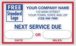 1690 Windshield Static-Cling Label personalized with your business information