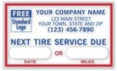 1690E Windshield Static-Cling Label personalized with your business information