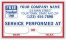 1690F Windshield Static-Cling Label personalized with your business information