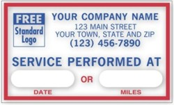 1690F Service Performed at Label personalized with your business information