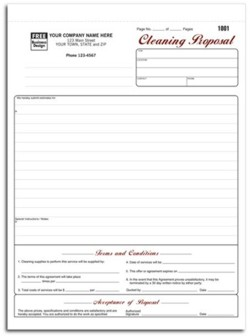 5523 Cleaning Proposal form personalized with your business information