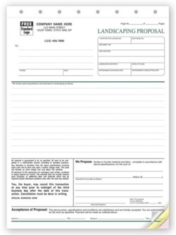 5568 Landscape Proposal Form personalized with your business information