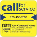 "58166 ""Call for Service"" label personalized with business information!"