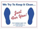 "6515 ""Just for Your"" Auto Floor Mat personalized with your business information"