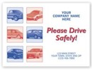 "6517 ""Please Drive Safely"" Auto Floor Mat, personalized with your business information"