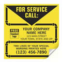 CL14 Contractor Service Label w/pipe boarder