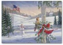 H56411 Countryside Cardinals Patriotic Holiday Cards
