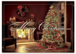 HP15313 Home Sweet Home Christmas Card personalized with your business or personal information
